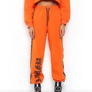 I.Am.Gia orange sweats size x-small